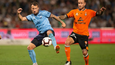 Good memories: Adam Le Fondre is excited about what his new strike partnership with Reza Ghoochanejhad can do up front for Sydney FC.