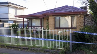 The house in Tullamarine on Friday morning.