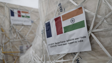 France sent oxygen respiratory equipment and generators to India to help the country deal with the COVID-19 crisis.