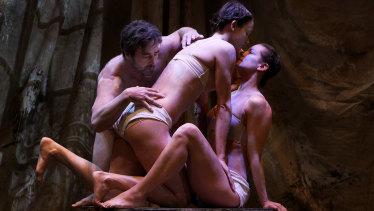 Ballet dancers Kip Gamblin, Cloe Fournier and Dorothea Csutkai bring the sculptures to life.