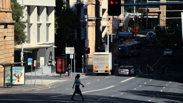 Foot traffic in Sydney's CBD was down sharply on Wednesday.