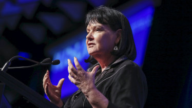 """Sharan Burrow says the government's union-busting bill is """"ideological revenge""""."""