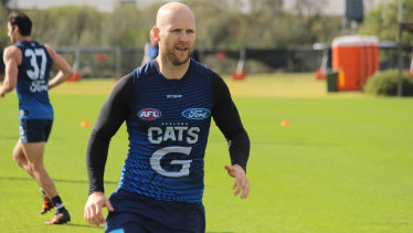 Gary Ablett has been training with Andrew Mackie in Geelong.