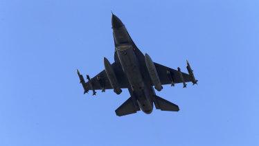 A Turkish Air Force warplane.