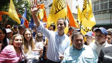 Venezuela's National Assembly President and self-proclaimed interim President Juan Guaido.
