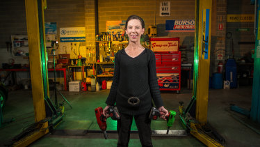 Jillian Edwards is the co-owner of garage Braeside Automotives.