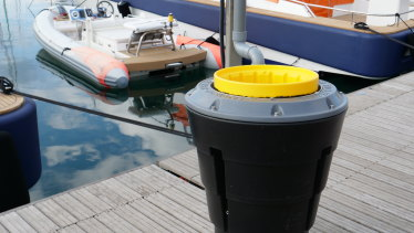 The floating bin costs an estimated AU$4.48 in electricity per day to power the internal pump.