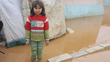 Flooding in refugee camps in north-west Syria have made for horrible conditions for the youngest inhabitants.