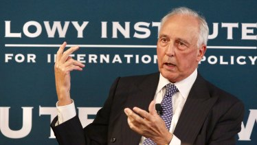 Former prime minister Paul Keating speaks at the Lowy Institute last year.