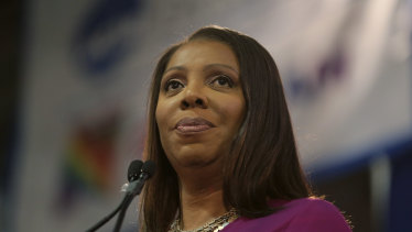 New York Attorney-General Letitia James.