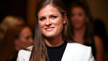 Collingwood's Brianna Davey tied for the AFLW best and fairest.