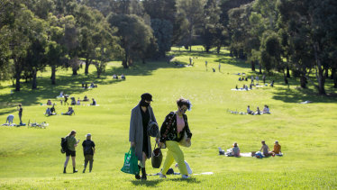 Northcote Golf Course became a popular park during lockdown.