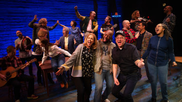 The cast of Come From Away in Melbourne.