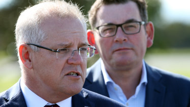 Turf dispute on China: Prime Minister Scott Morrison and Victorian Premier Daniel Andrews.