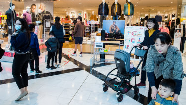 Shoppers are returning to the nation's malls and spending, data from the ANZ and Commonwealth Bank shows.