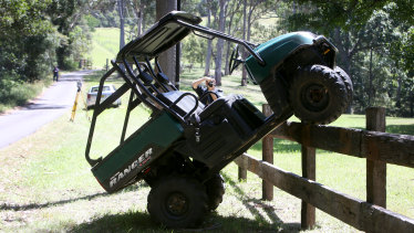A young girl has died in hospital after a quad bike crash at a property in Marshall Mount on Sunday morning.