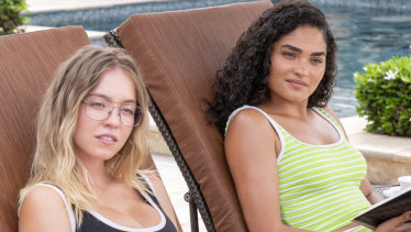 Sydney Sweeney and Brittany O'Grady in HBO's The White Lotus.