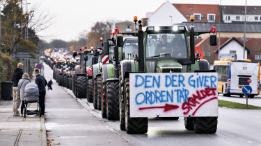 Danish mink farmers protested a cull ordered to curb the spread of coronavirus last year.