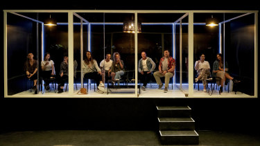 One of Theatre Works' new COVID-proof booths.