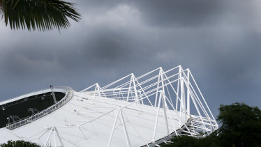 The Philip Cox designed Allianz stadium, previously known as the Sydney Football Stadium.