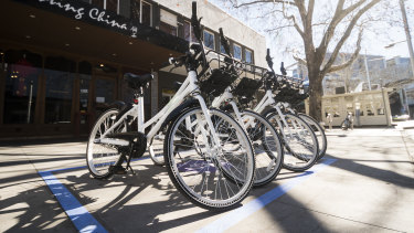 Canberra's new Airbike sharing service.