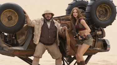 Top of the box office last year: Jack Black and Karen Gillan in Jumanji: The Next Level.