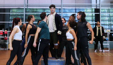 """""""We were keenly aware that hiring local talent is really a big topic of conversation in Australia"""": rehearsals for the Australian production of Hamilton that opens at Sydney's Lyric Theatre next month."""