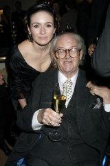 Emily and Sir John Mortimer in 2005.