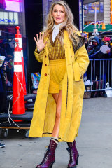 Blake Lively in New York City this week.