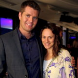 Pete Evans and Astrid Edlinger prior to the chef adopting the paleo lifestyle.