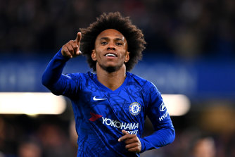 Willian put Chelsea ahead in the 13th minute.