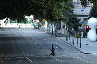 Brisbane's near-deserted streets.