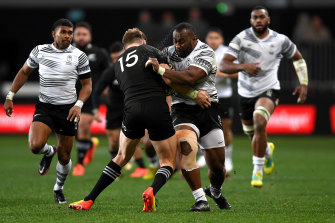 Fiji players turned down their sponsor's plan for them to wear jumpers with a pro-vaccination message.
