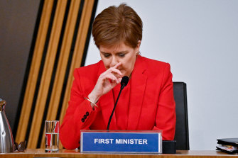First Minister Nicola Sturgeon gives evidence to a Scottish Parliament committee examining the handling of harassment allegations against her predecessor.