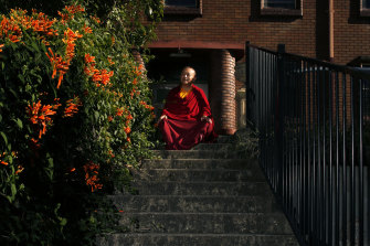 Venerable Bagdro, a Tibetan Monk who was imprisoned in China and is now a refugee in Newcastle, Australia.