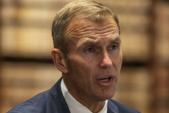 """Planning Minister Rob Stokes there is a """"computer says no"""" approach hindering the planning system."""