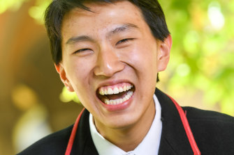 Xavier College student Jeff Ma achieved a perfect 99.95 ATAR.