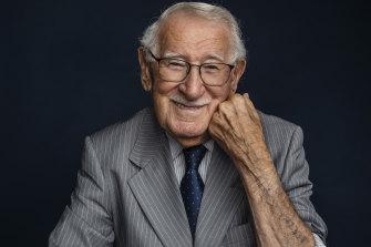 Eddie Jaku, 100-year-old author and Auschwitz survivor, in Randwick.