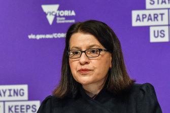 Victoria's Health Minister Jenny Mikakos.
