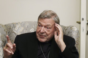 Cardinal George Pell at his residence near the Vatican last year.