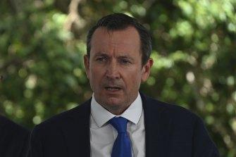 WA Premier Mark McGowan.