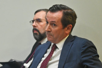 WA Premier Mark McGowan and Chief Health Officer Andy Robertson.