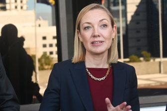 Opposition Leader Mia Davies.
