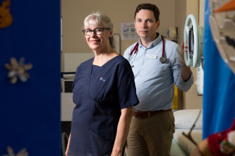 """We spend extra time with the patients if we possibly can, and their relatives"": Nurse Merrilyn Lambert, with Dr David Murphy."
