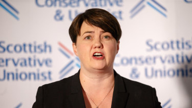 Ruth Davidson announces her resignation.