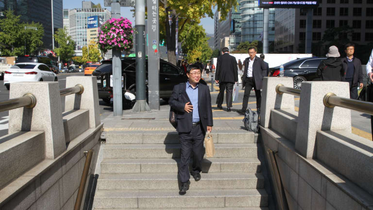 North Korean defector Seong Ha-joo in central Seoul.