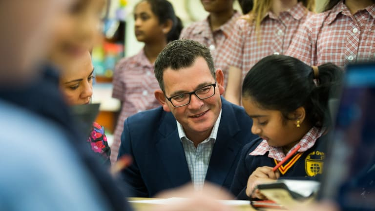 Premier Daniel Andrews made the announcement at Corpus Christi Primary School in Glenroy.