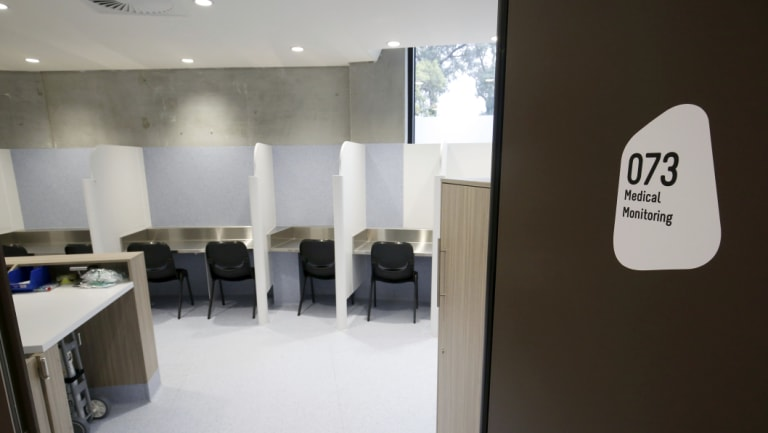 The cubicles inside the Safe Injecting Room at North Richmond Community Health.