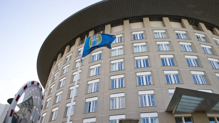 Headquarters of the Organisation for the Prohibition of Chemical Weapons in The Hague, Netherlands.