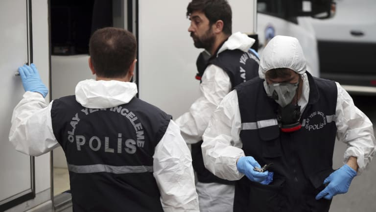 Turkish police officers entered the residence of the Saudi consul General Mohammed al-Otaibi on Wednesday to conduct a search after the disappearance and alleged slaying of writer Jamal Khashoggi, in Istanbul.